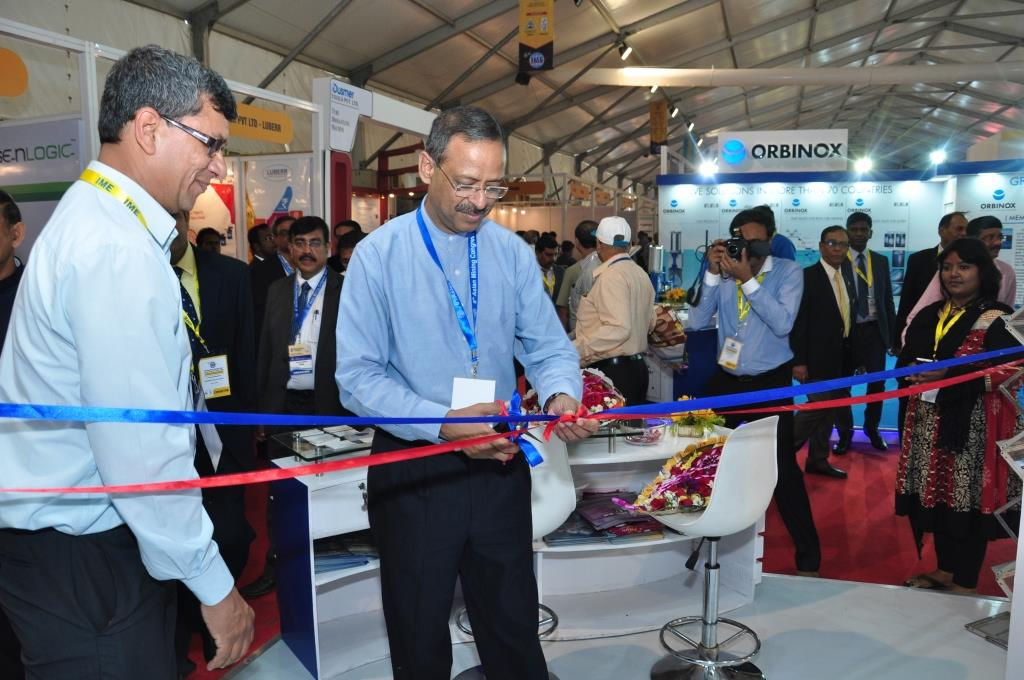 Mr Anil Swarup, Secretary – Ministry of Coal, is inaugurating the stall of Geovale-Thriveni at IME 2016